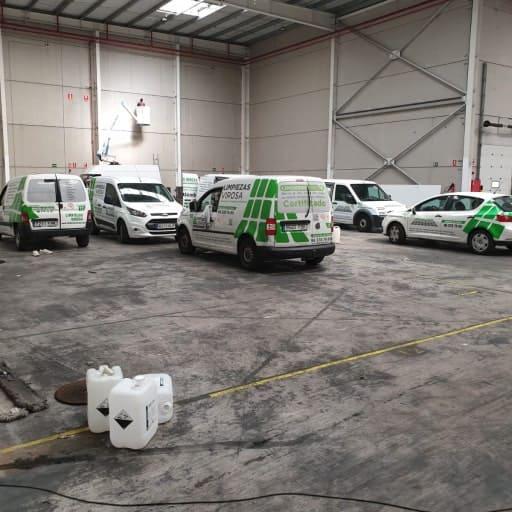Flota vehículos limpieza Alicante